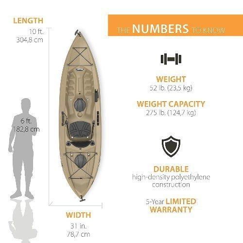 Lifetime Tamarack Kayak Reviews [Angler 100 Fishing Kayak]