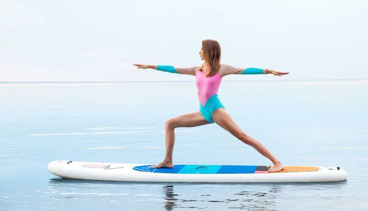 why you should try stand up paddle board yoga