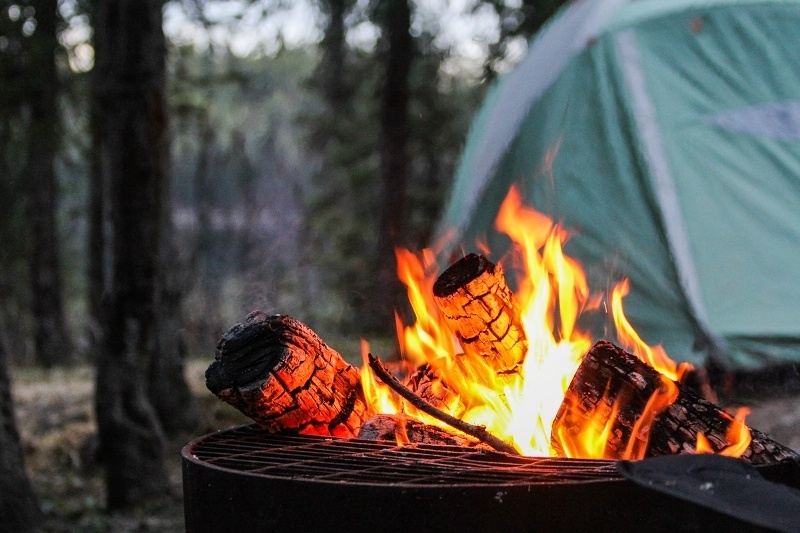 cooking with campfire